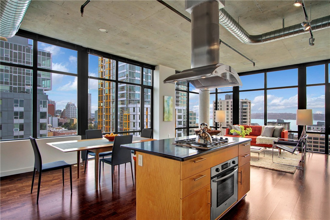 Condo unit 1110 at mosler lofts seattle sold nwmls 856726 for 1015 third ave 12th floor seattle wa 98104